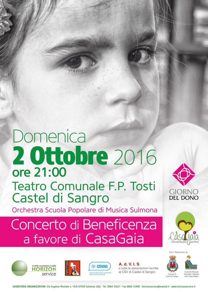 Concerto di beneficenza per Casa Gaia